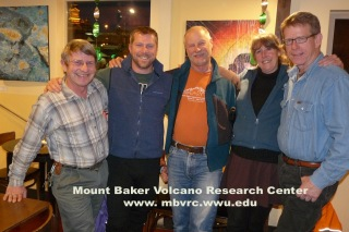 The 2012-3 MBVRC Board. From left: Doug McKeever, Pete Stelling, Dave Tucker, Sue Madsen, John Scurlock.