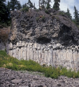 Andesite lava at Lightning Creek, south of Glacier Peak.