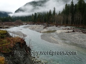 Gravel bars along the Baker River trail. Click to enlarge any image.