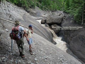 The lower waterfall, in argillite of the Nooksack Formation.