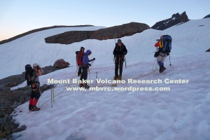 MBVRC climbers rope up at the Easton Glacier.