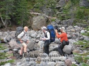 Sean McShane interviews Dave Tucker as Al Leader wields the TV camera.