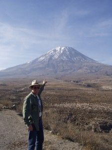 John Ewert at El Misti, Peru. Courtesy J. Ewert.